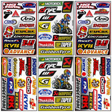 Dirt Bike Racing Decal Sticker Kit Set 6 Sheets #DR-601