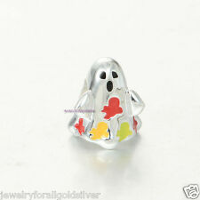 Sterling Silver 925 European Charm Halloween Ghost BOO Bead