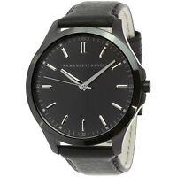 Armani Exchange Men's AX2148 Black Leather Japanese Quartz Dress Watch