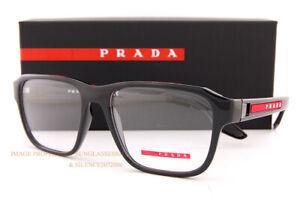 Brand New Prada Sport Linea Rossa Eyeglass Frames PS 04NV 1AB  BLACK  For Men