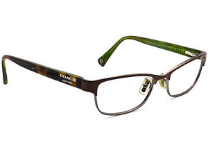 Coach Eyeglasses HC 5033 Alyson 9128 Satin Brown/Dark Silver Frame 53[]16 135