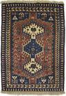 Small Entryway Vintage Rust Tribal 1'9X2'7 Oriental Rug Farmhouse Wool Carpet
