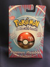 Pokemon Applause Playables Plush #25 Pikachu Pokeball Keychain Toy FREE SHIP!