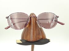 Vintage Givenchy Pink Purple Marble Metal Oval Sunglasses Frames Italy