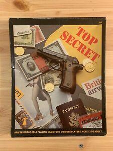 Vintage Top Secret RPG box set TSR 1981 NO DICE D&D spy espionage game