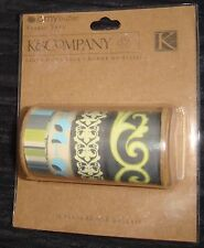 K & Co AB Lotus Faded China Fabric Tape Sticker Scrapbook Paper K & Company