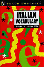 Italian Vocabulary (Teach Yourself), Vittoria Bowles Protej, Very Good Book