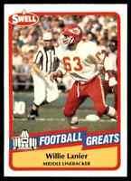 1989 Hall of Fame RED #131 Willie Lanier HOF RARE Kansas City Chiefs / Morgan St