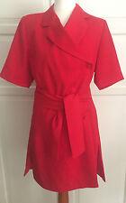 Kleid rot Damenkleid Mantelkleid vom Schneider angefertigt handgenäht UNIKAT neu