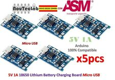 5pcs 5V 1A 18650 Lithium Battery Charging Board Micro USB Charger Module