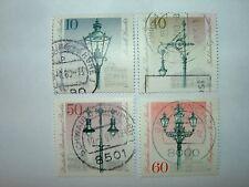 1979 Berlino ovest illuminazione stradale ANNIVERSARIO SET COMPLETO x 4 VFU (sgb578 / 81) £ 3.25
