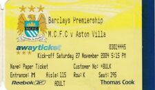 Billete-Manchester City v Aston Villa 27.11.04