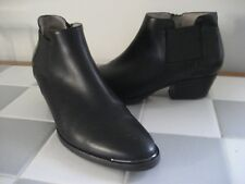 AQUATALIA Black Leather Western-Ispired Ankle Boot, Sz 8M
