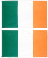 Two 2 x Irish Flag St Patricks Day Party Decoration Ireland 70 x 50cm Flags 0261