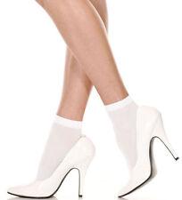 Nylon Patternless Ankle-High Socks for Women