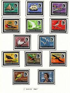 PITCAIRN ISLANDS - SCOTT #s 39-51  VLH, 52-63 MNH        1964-6