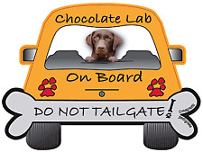 Labrador (Chocolate) -  Dog on Board Magnet Sign