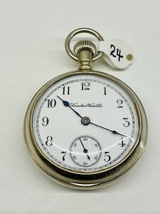 Hamilton 17Jewel Grade 926 18s Exhibition back plate Pocket Watch