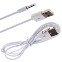 3.3FT 3.5mm AUX Audio Plug Jack to USB 2.0 Male Charge Cable Cord FJ