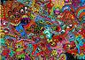 Poster A3 Psicodélico Abstracto Abstract Psycodelic Cartel Decor Impresion