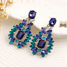 Boho Colorful Big Drop Earrings Accessories Crystal Stud Earrings Jewelry FG