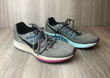 Nike Air Zoom Structure 19 Womens 9.5 Running Shoes Gray Purple Blue 806586-005