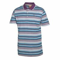 Puma Golf Boys Yarn Dye Stripe Polo Juniors Golf Shirt - 56098403 - Size Small