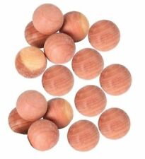 50pcs Cedar Wood Ball Wardrobe Drawer Moth Insect Deterrent Clothes Protection