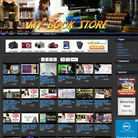 BOOK STORE - Online Business Website, FREE Amazon & Google Affiliate Make Money