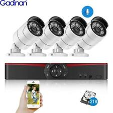 4CH 5MP POE NVR Kit CCTV System 5MP 4MP Audio IP Camera Outdoor Surveillance Set