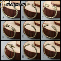 Punk Men's Bracelet Antique Twisted Wire Cuff Viking Bangles Gothic Indian Jewel