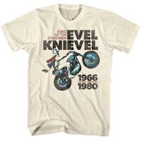 Evel Knievel King of The Stuntmen Men's T Shirt Motorcycle Biker Wheelie 1966