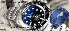 SUPERB BLUE BALLISTIC NYLON NATO ® STRAP BAND FOR ROLEX DEEPSEA WATCH 20mm
