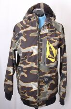 Volcom Let It Storm Ski Snowboarding Hood Camo Full Zip Jacket Coat Men's M