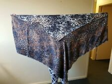 Authentic Mulberry Leopard Print Wrap Square Scarf in 100% Wool