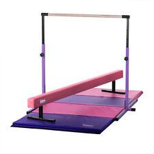Pink and Purple Kids Home Gym - Kip Bar, Balance Beam and Mat Combo