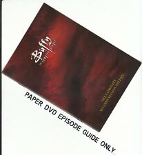 BUFFY - Season 2: PAPER EPISODE GUIDE BOOKLET ONLY - NO DISCS INCLUDED)