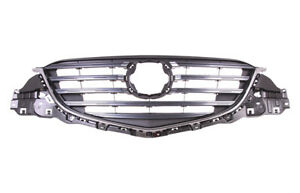 Fits Mazda Cx-5 2013-2016 Front Grille Complete Grey With Chrome Moulding
