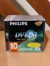 Philips DVD+R 4.7GB 4X120m 10 Pack Jewel Case