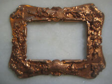 Vintage French Edwardian Style Patina Brass Frame Stamping/Finding/Embellishment