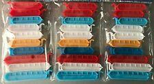 30x Beutelclips Frischhalte Beutel Clips Verschlussklammern Klammern 8 13 cm