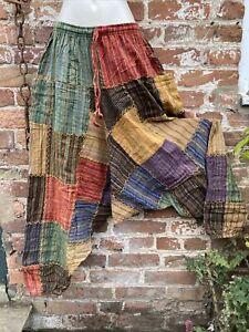 Gringo hippie/boho/alternative free size baggy alibaba harem trousers patchwork