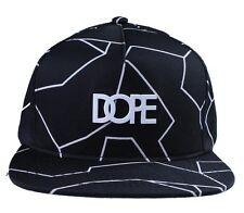 Dope Couture Cracks Matte White Logo Snapback
