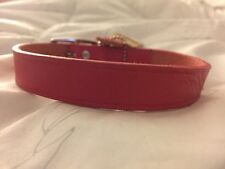 New Coastal Pet Products Premium Pink Leather Dog Collar 16