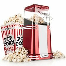 Savisto Hot Air Electric Popcorn Maker - Red