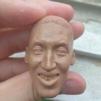 "Blank Hot 1/6 Scale NBA Superstar Scottie Pippen Head Sculpt Unpainted Fit 12"""