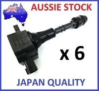 6 x IGNITION COILS COIL PACKS for NISSAN PATROL HANSHIN GU TB48DE 4.8L 01-07