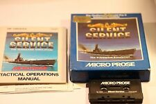 SILENT SERVICE SPECTRUM 48K 128K BY MICRO PROSE  BIG BOX GAME 1986