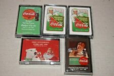 5 packs Coca Cola Collectors Club Playing Cards 1995-1996 Mid-West Chapters