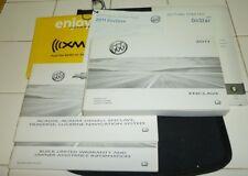 2011 BUICK ENCLAVE OWNERS MANUAL 11 SET w/case CX 1XL 2XL AWD + NAVIGATION GUIDE